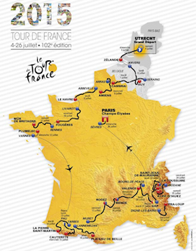 2015ko Frantziako Tourra. Ibilbidea