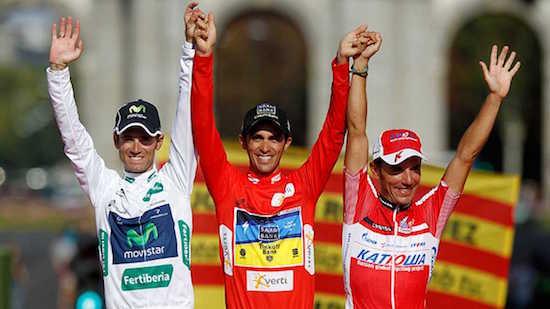 Valverde 2012ko Vueltan podiumean