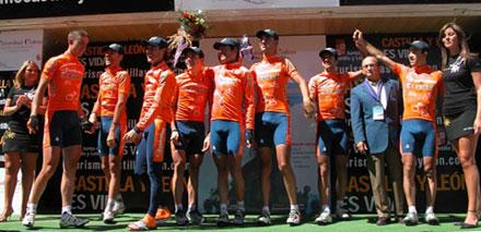 Euskaltel-Euskadi Burgosko podiumean