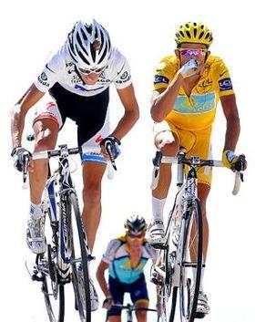 Andy Schleck eta Contador 2009ko Tourrean